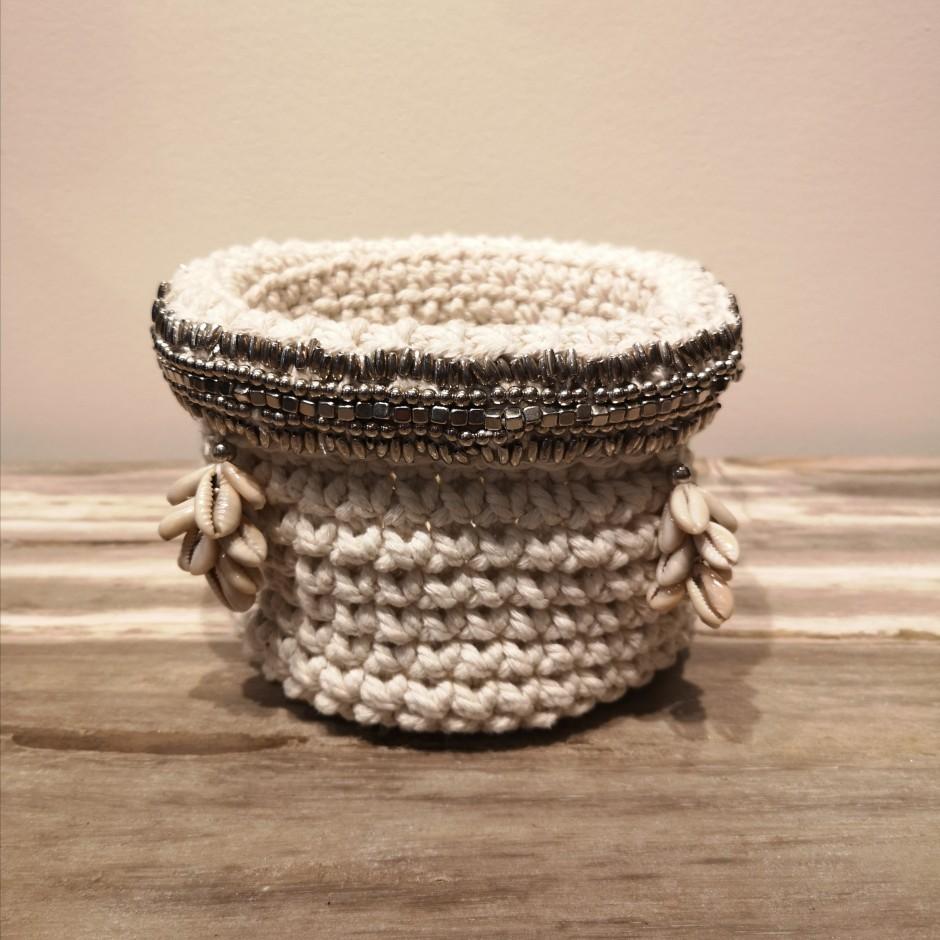 Panier en corde de chanvre de Java