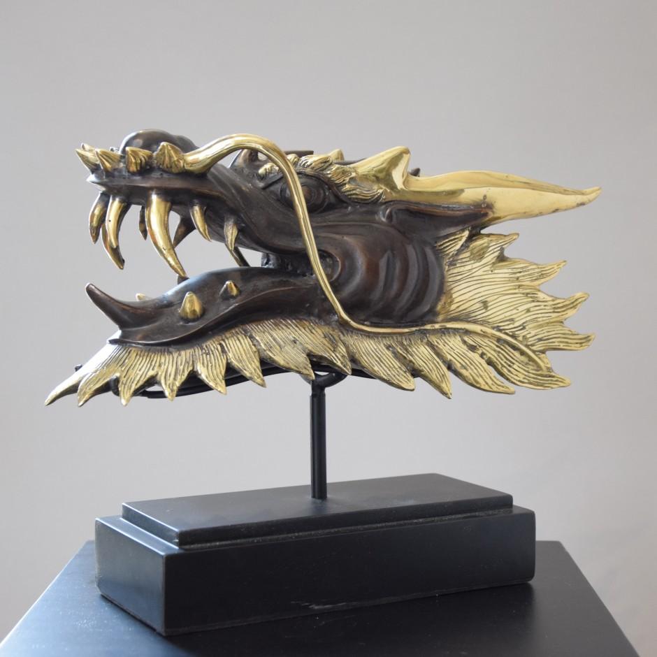 Tête de dragon en laiton