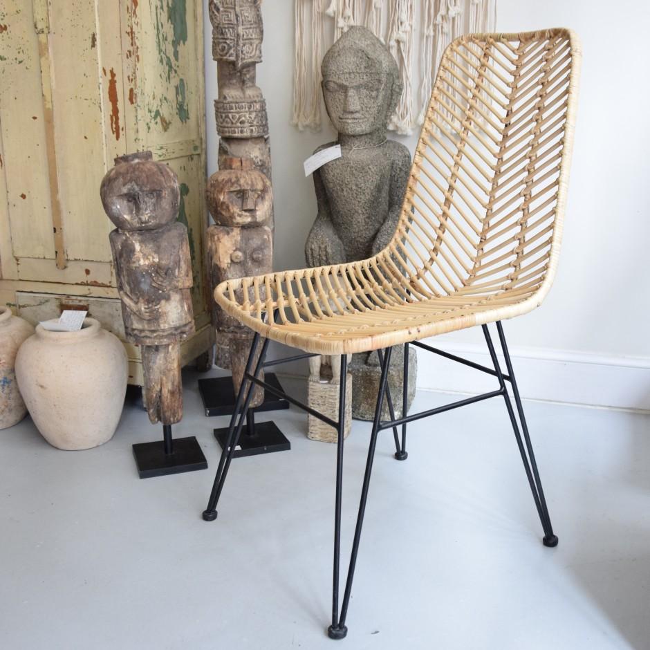Chaise en rotin et métal (sur commande)
