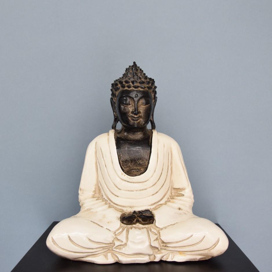 Bouddha dhynana en bois
