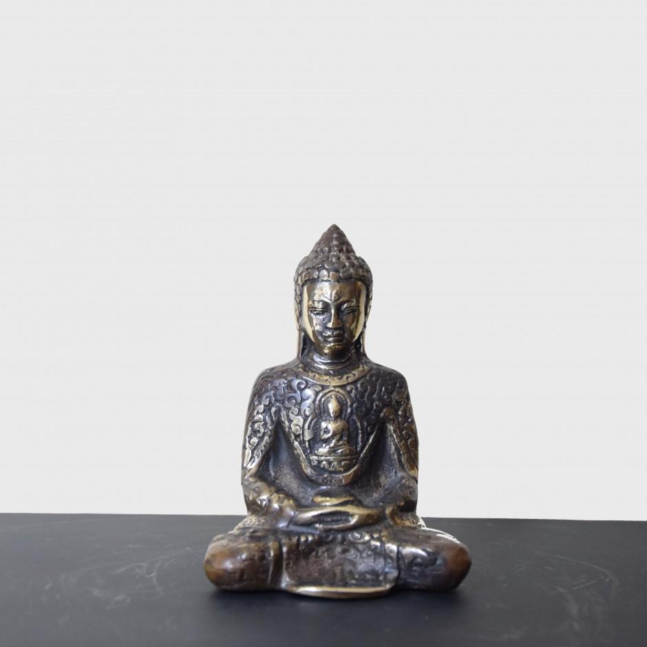 Bouddha Ayutthaya en laiton