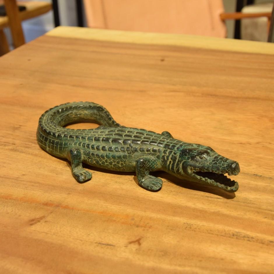 Crocodile en laiton