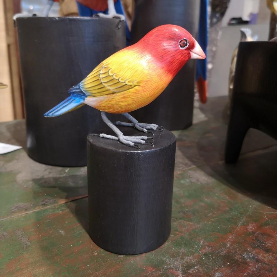 Oiseau en bois sculpté de Java